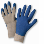 Blue Latex Finger & Palm Coated Gray String Knit Glove 1dz