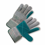 Double Palm Work Glove w/Rubberized Safety Cuff