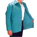 "30"" Medium Green Fire Resistant Fabric Coat"