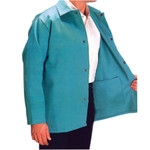 "30"" XL Green Fire Resistant Fabric Coat"