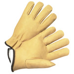 Large Full Grain Leather Pig Driver Style Glove W/Insulated Lining 1dz