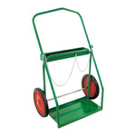 "Cylinder Cart - Large Oxy/Acetylene Twin Cyliner Cart w/14""x1.75"" semi-pneumatic tires"