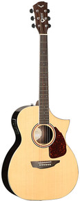 Samick Electric/Acoustic Guitar Orchestra Cutaway S550OM w/ hard case
