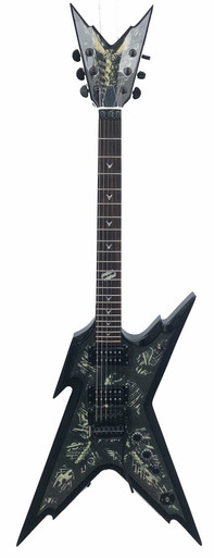 Dean Dime Razorback Electric guitar with Biomechanical Graphics