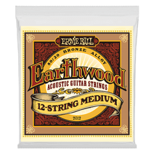 Ernie Ball Earthwood Medium 12-String 80/20 Bronze Acoustic Guitar String, 11-28 Gauge