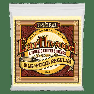 Ernie Ball Earthwood Silk and Steel Regular 80/20 Bronze Acoustic Guitar String, 13-56 Gauge