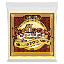 Ernie Ball Earthwood Silk and Steel Soft 80/20 Bronze Acoustic Guitar String, 11-52 Gauge