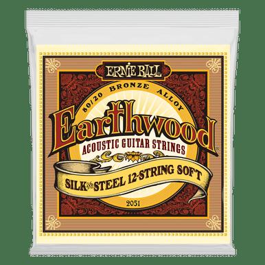 Ernie Ball Earthwood Silk and Steel Soft 12-String 80/20 Bronze Acoustic Guitar String, 9-46 Gauge