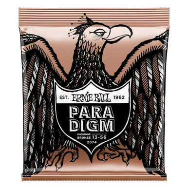 Ernie Ball Paradigm Medium Phosphor Bronze Acoustic Guitar Strings 13-56 Gauge