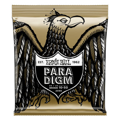 Ernie Ball Paradigm Extra Light 80/20 Bronze Acoustic Guitar Strings 10-50 Gauge
