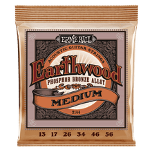 Ernie Ball Earthwood Medium Phosphor Bronze Acoustic Guitar String, 13-56 Gauge