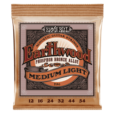 Ernie Ball Earthwood Medium Light Phosphor Bronze Acoustic Guitar String, 12-54 Gauge