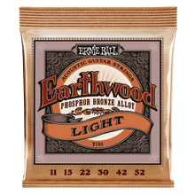 Ernie Ball Earthwood Light Phosphor Bronze Acoustic Guitar String, 11-52 Gauge