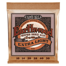 Ernie Ball Earthwood Extra Light Phosphor Bronze Acoustic Guitar Strings, 10-50 Gauge