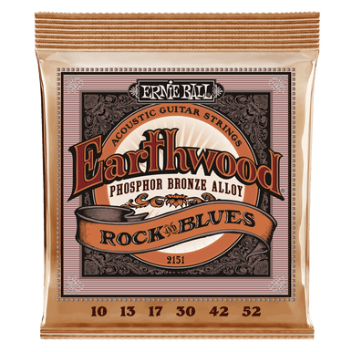 Ernie Ball Earthwood Rock and Blues with Plain G Phosphor Bronze Acoustic Guitar String, 10-52 Gauge