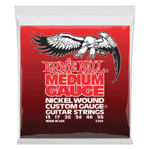 Ernie Ball Medium Nickel Wound Set with Wound G Electric Guitar Strings 13-56 Gauge