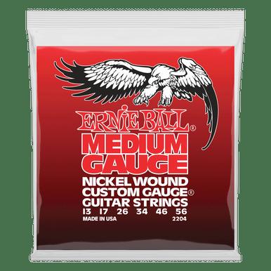Ernie Ball Medium Nickel Wound Set with Wound G Electric Guitar Strings 13-56 Gauge