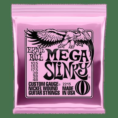 Ernie Ball Mega Slinky Nickel Wound Electric Guitar Strings, 10.5-48 Gauge