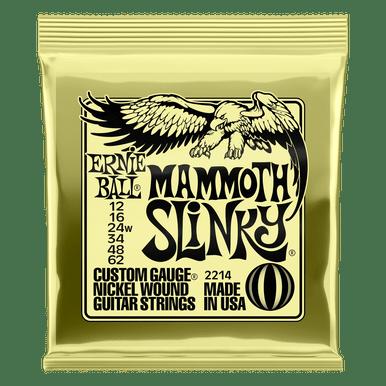 Ernie Ball Mammoth Slinky Nickel Wound Electric Guitar Strings, 12-62 Gauge