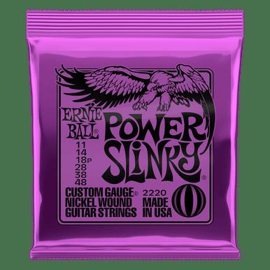Ernie Ball Power Slinky Nickel Wound Electric Guitar Strings 11-48 Gauge