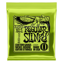 Ernie Ball Regular Slinky Nickel Wound Electric Guitar Strings, 10-46 Gauge