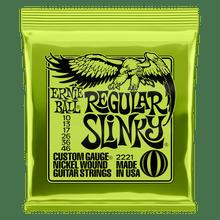 Ernie Ball Regular Slinky Nickel Wound Electric Guitar Strings, 10-46 Gauge