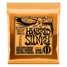 Ernie Ball Hybrid Slinky Nickel Wound Electric Guitar Strings, 9-46 Gauge
