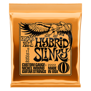 Ernie Ball Hybrid Slinky Nickel Wound Electric Guitar Strings, 9-46 Gauge