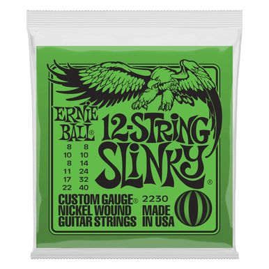 Ernie Ball Slinky 12-String Nickel Wound Electric Guitar Strings, 8-40 Gauge