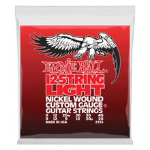 Ernie Ball Light 12-String Nickel Wound Electric Guitar Strings, 9-46 Gauge