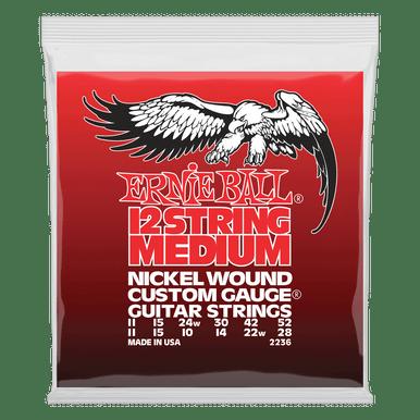 Ernie Ball Medium 12-String Nickel Wound Electric Guitar Strings, 11-52 Gauge