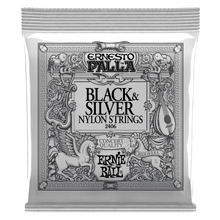Ernie Ball Ernesto Palla Black and Silver Nylon Classical Guitar String