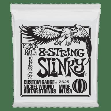 Ernie Ball Slinky Nickel Wound Electric Guitar 8-String 10-74 Gauge