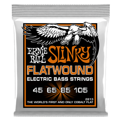 Ernie Ball Hybrid Slinky Flatwound Electric Bass Strings, 45-105 Gauge