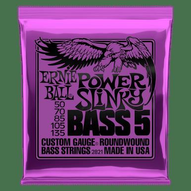 Ernie Ball Power Slinky 5-String Nickel Wound Electric Bass Strings 50-135 Gauge