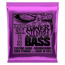 Ernie Ball Power Slinky Nickel Wound Electric Bass Strings 55-110 Gauge