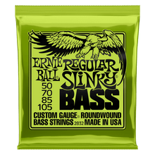Ernie Ball Regular Slinky Nickel Wound Electric Bass Strings 50-105 Gauge