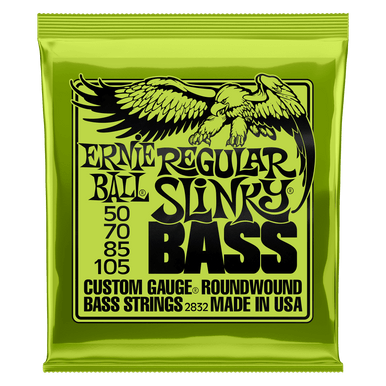 Ernie Ball Regular Slinky Nickel Wound Electric Bass Strings 50-105 Gauge