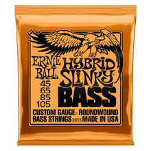 Ernie Ball Hybrid Slinky Nickel Wound Electric Bass Strings, 45-105 Gauge