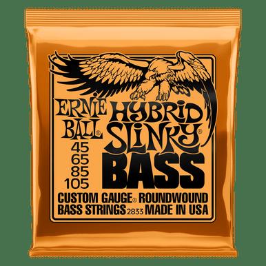 Ernie Ball Hybrid Slinky Nickel Wound Electric Bass Strings, 45-105 Gauge