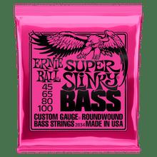 Ernie Ball Super Slinky Nickel Wound Electric Bass Strings - 45-100 Gauge