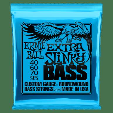 Ernie Ball Extra Slinky Nickel Wound Electric Bass String, 40-95 Gauge