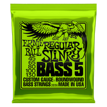 Ernie Ball Regular Slinky 5-String Nickel Wound Electric Bass Strings, 45-130 Gauge