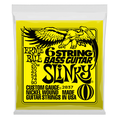 Ernie Ball Slinky W/ Small Ball End 29 5/8 Scale Bass Guitar 6-String 20-90 Gauge