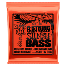 Ernie Ball 6-String Slinky Nickel Wound Bass Set, .032 - .130