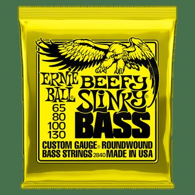 Ernie Ball Beefy Slinky Nickel Wound Electric Bass Strings - 65-130 Gauge