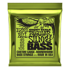 Ernie Ball Regular Slinky Nickel Wound Short Scale Bass Strings, 45-105 Gauge
