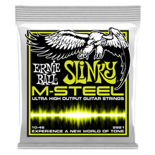 Ernie Ball Regular Slinky M-Steel Electric Guitar Strings, 10-52 Gauge