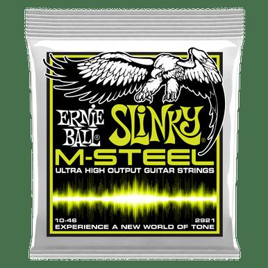 Ernie Ball Regular Slinky M-Steel Electric Guitar Strings, 10-52 Gauge