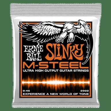 Ernie Ball Hybrid Slinky M-Steel Electric Guitar Strings, 9-46 Gauge